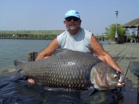 108lb Siamese Giant Carp Fishing in Thailand