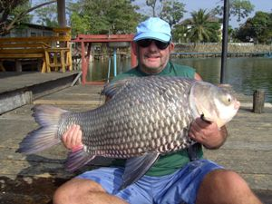 Carp Fishing in Thailand - 77lb Siamese Giant Carp