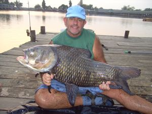 Carp Fishing in Thailand - 84lb Siamese Carp