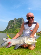 Siamese carp fishing in Thailand at Jurassic Fishing Park
