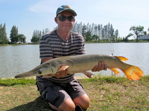 Alligator Gar fishing in thailand