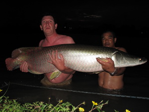arapaima fishing in Thailand at IT Lake Mosters