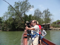 Extreme fishing with Robson Green on Bang Pakong River Thailand