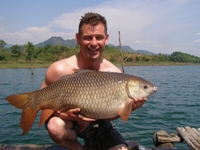 33lb Rohu fishing in thailand