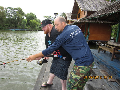 fishing at Bungsamran Lake in Bangkok
