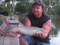 Shawn - 2.5lb mrigal caught fishing Shadow Lake in Bangkok
