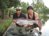 Pak - 20Kg (44lb) striped catfish from Shadow Lake Bangkok