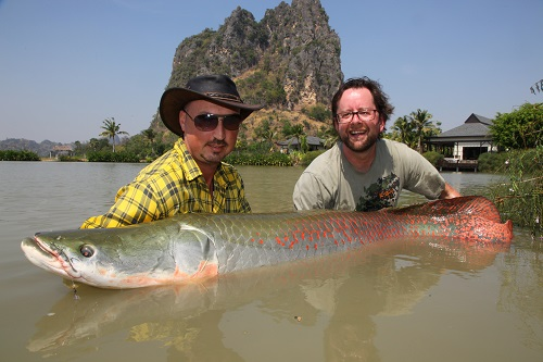 Martin Bowler fishing in Thailand at Jurassic Fishing Park