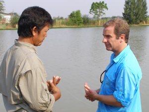 Fish Thailand's Alley with Robson Green at IT Lake Monsters filming Extreme Fishing for Channel 5 TV