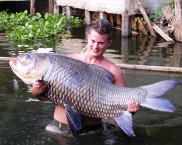 Worlds biggest carp fishing Thailand